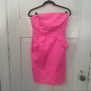 J Crew Factory Pink Strapless Cocktail Dress Sz 8